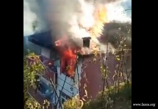 Rize Çamlıhemşin MǮanu (Topluca) Köyünde Yangın. 1 Kişi Dumandan Zehirlenerek Yaşamını Yitirdi.